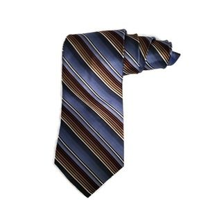Murano Men's tie in blue, brown, black with white